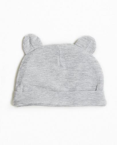 Bonnet gris en coton bio